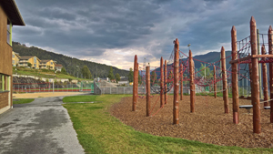 Playground for children and youngsters